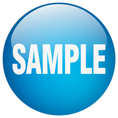 sample: sample blue round gel isolated push button