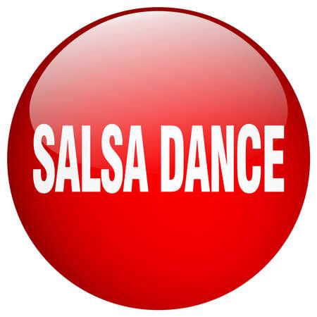 salsa dance: salsa dance red round gel isolated push button