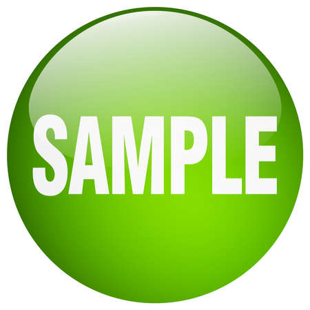 sample: sample green round gel isolated push button