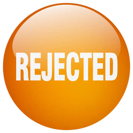 rejected: rejected orange round gel isolated push button Illustration