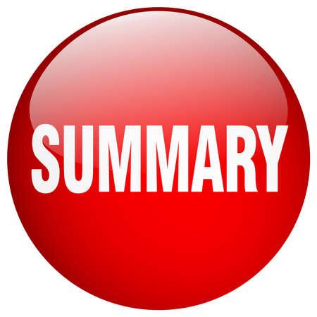 summary: summary red round gel isolated push button