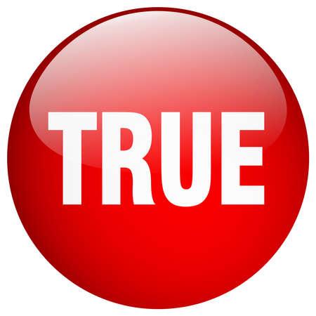 true: true red round gel isolated push button
