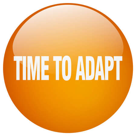 adapt: time to adapt orange round gel isolated push button