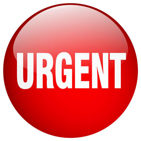 urgent: urgent red round gel isolated push button Illustration