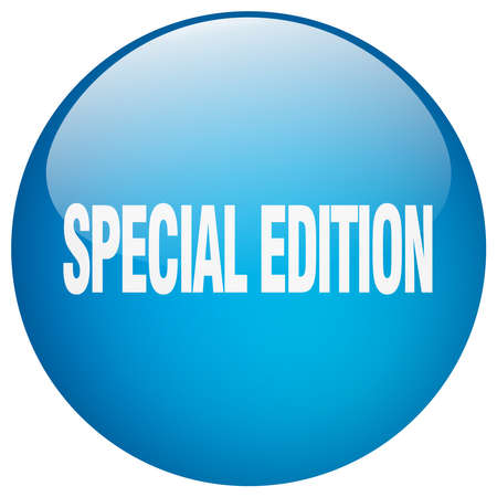special edition: special edition blue round gel isolated push button