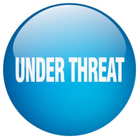 threat: under threat blue round gel isolated push button