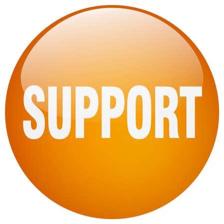 gel: support orange round gel isolated push button