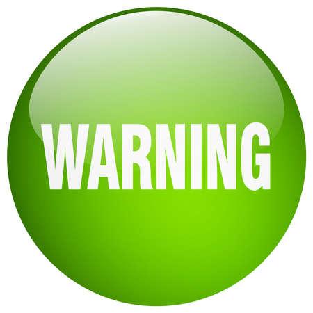 gel: warning green round gel isolated push button Illustration