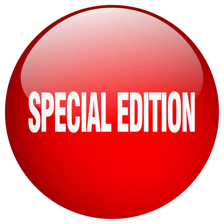 special edition: special edition red round gel isolated push button