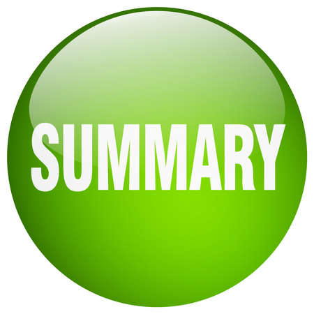 summary: summary green round gel isolated push button