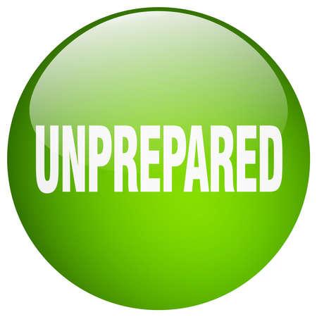 gel: unprepared green round gel isolated push button
