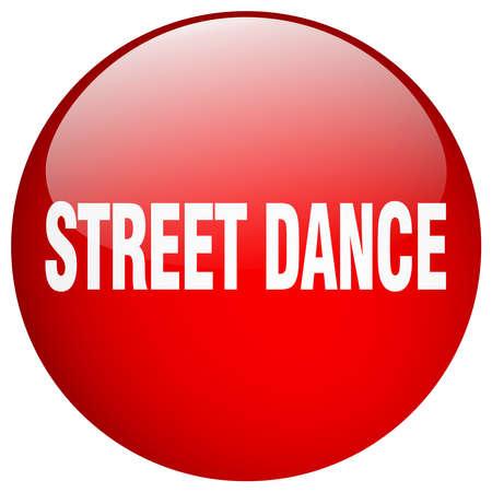 street dance: street dance red round gel isolated push button Illustration
