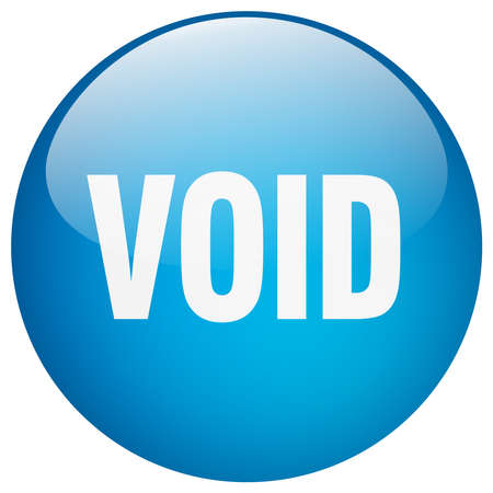 void: void blue round gel isolated push button Illustration