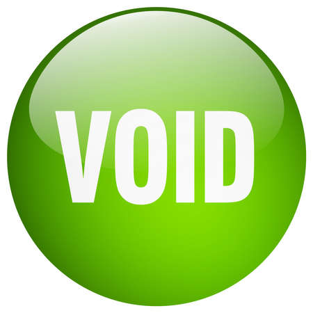 the void: void green round gel isolated push button