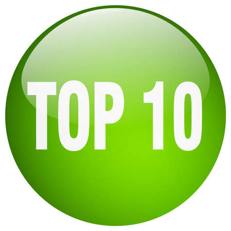 top 10: top 10 green round gel isolated push button