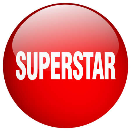 superstar: superstar red round gel isolated push button