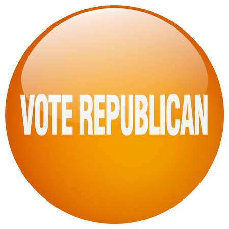 republican: vote republican orange round gel isolated push button Illustration