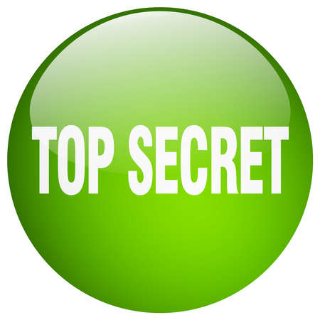 top secret: top secret green round gel isolated push button
