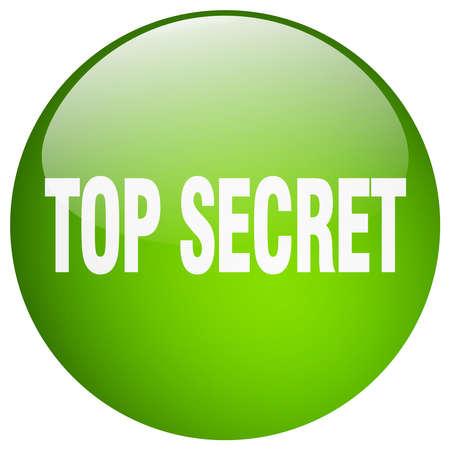 top secret: top secret green round gel isolated push button