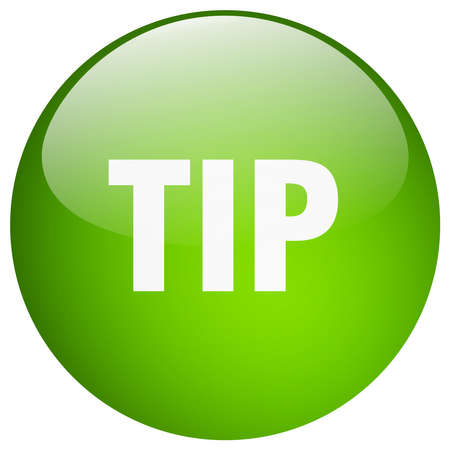 tip green round gel isolated push button