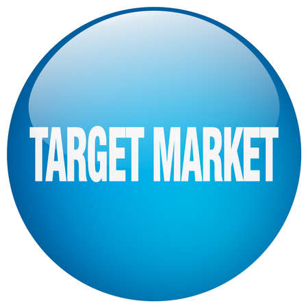 target market: target market blue round gel isolated push button