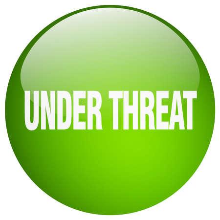 threat: under threat green round gel isolated push button