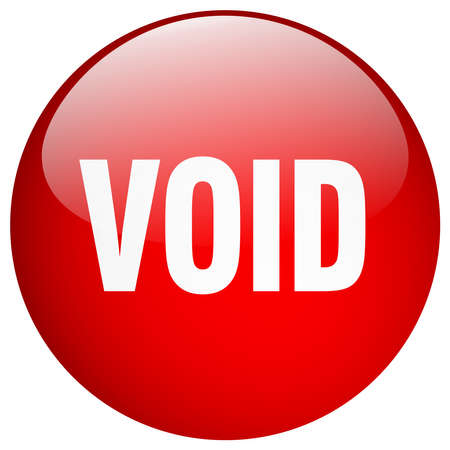 the void: void red round gel isolated push button