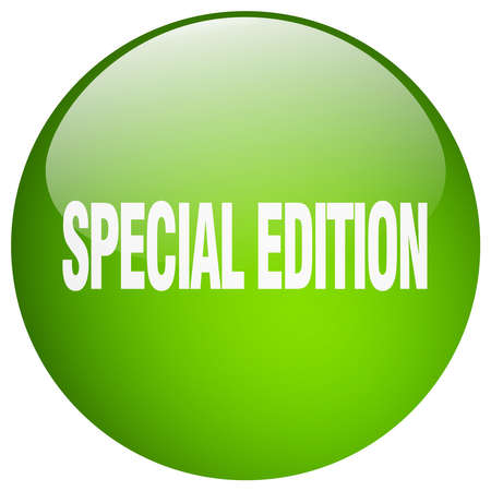 special edition: special edition green round gel isolated push button