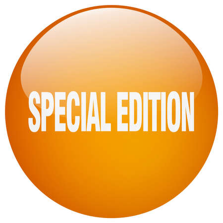 special edition: special edition orange round gel isolated push button