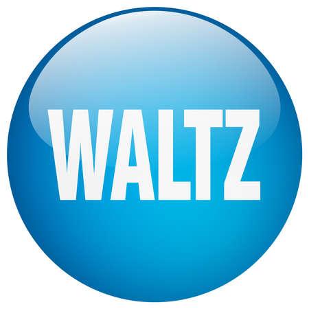 waltz: waltz blue round gel isolated push button