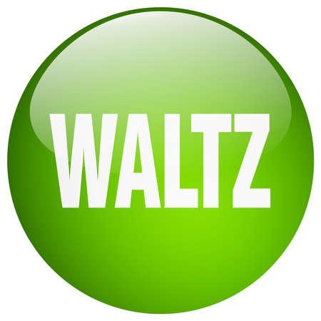 waltz: waltz green round gel isolated push button Illustration