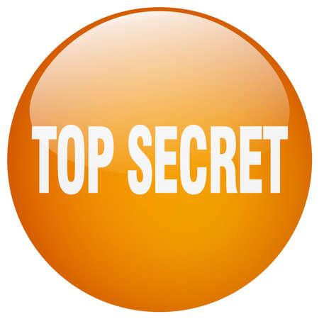 top secret: top secret orange round gel isolated push button Illustration