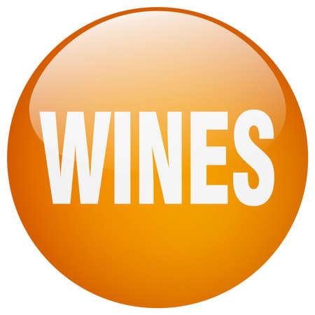 wines: wines orange round gel isolated push button Illustration