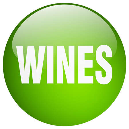 wines: wines green round gel isolated push button Illustration