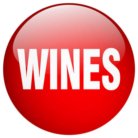 wines: wines red round gel isolated push button