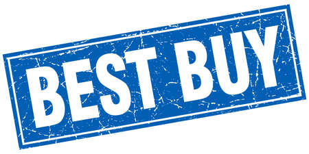 best buy: best buy blue square grunge stamp on white