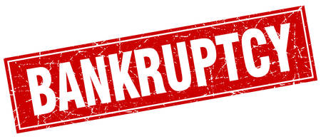 bankruptcy: bankruptcy red square grunge stamp on white