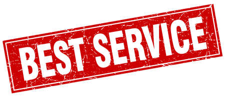 best service: best service red square grunge stamp on white Illustration