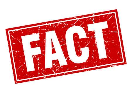fact red square grunge stamp on white