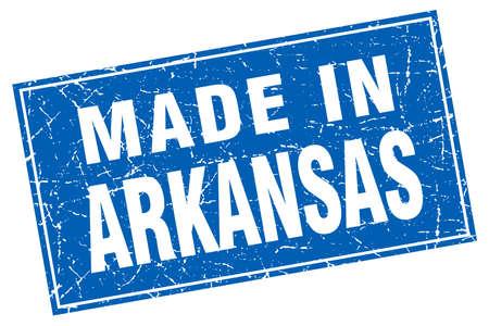 arkansas: Arkansas blue square grunge made in stamp Illustration