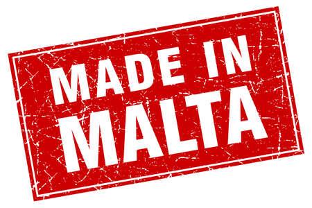 malta: Malta red square grunge made in stamp