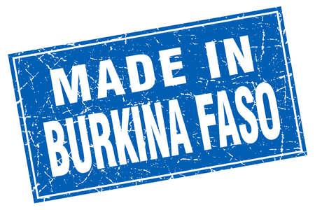 isles: Burkina Faso blue square grunge made in stamp