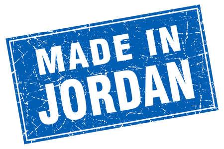 jordan: Jordan blue square grunge made in stamp