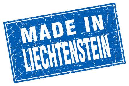liechtenstein: Liechtenstein blue square grunge made in stamp Illustration