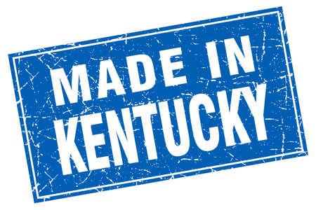 kentucky: Kentucky blue square grunge made in stamp