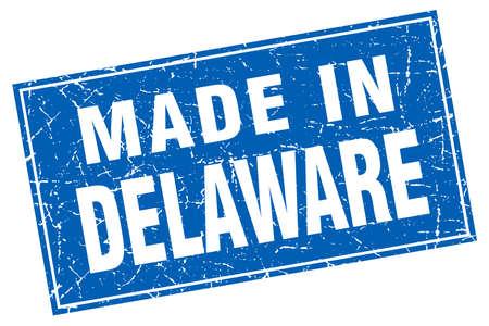 delaware: Delaware blue square grunge made in stamp