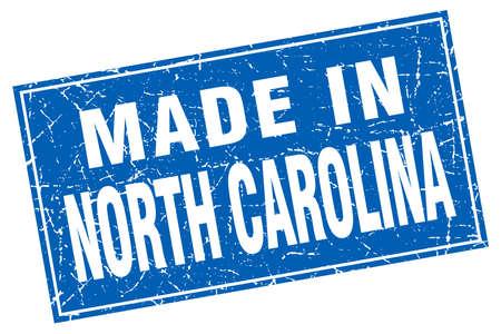 north carolina: North Carolina blue square grunge made in stamp Illustration