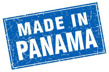 panama: Panama blue square grunge made in stamp