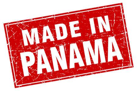 panama: Panama red square grunge made in stamp Illustration