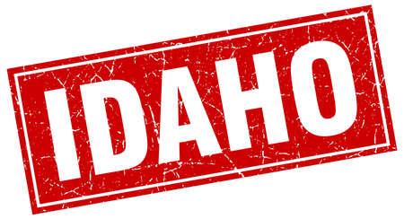 idaho: Idaho red square grunge vintage isolated stamp